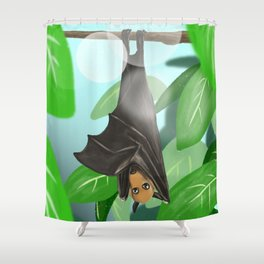Pteropus Shower Curtain