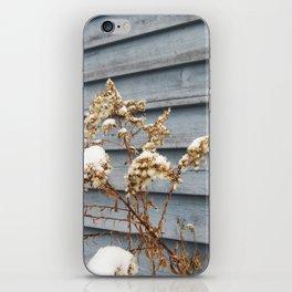 Snowy Flowers iPhone Skin