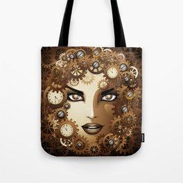 Steampunk Girl Portrait  Tote Bag