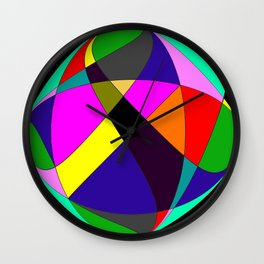 Crossing Cirlcles Wall Clock