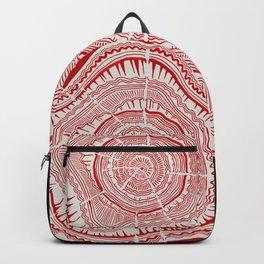Red Tree Rings Backpack