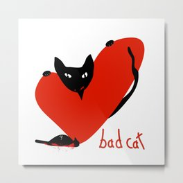Bad Cat Love Metal Print