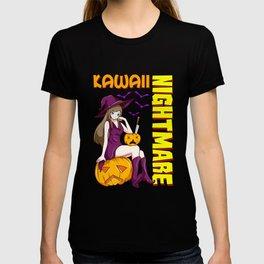 Kawaii Nightmare Halloween Anime Princess Witch T-shirt
