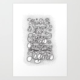 Little Christmas Art Print