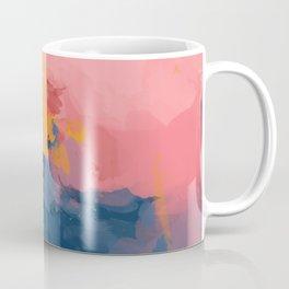 Mountain Peaks Amidst The Sherbet Sky Coffee Mug