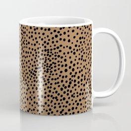 Little wild cheetah spots animal print neutral home trend rust copper black  Coffee Mug