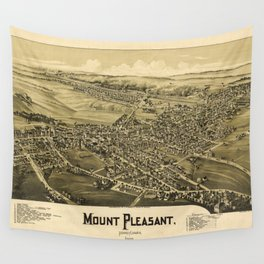 Aerial View of Mount Pleasant, Pennsylvania (1900) Wall Tapestry