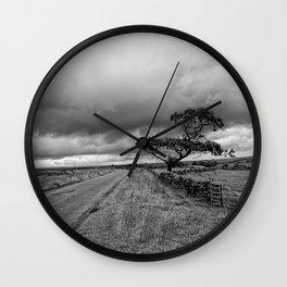 The road ahead - mono Wall Clock