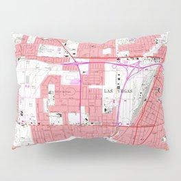 Vintage Map of Las Vegas Nevada (1967) 2 Pillow Sham