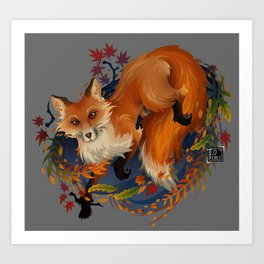Sly Fox Spirit Animal Art Print