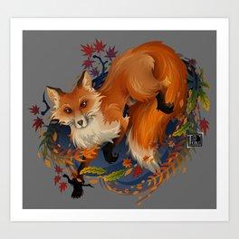 Sly Fox Spirit Animal Art Print