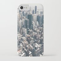 new york skyline iPhone & iPod Cases featuring New York City Skyline by Vivienne Gucwa