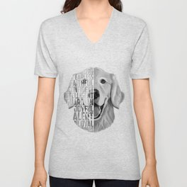 Golden Retriever PNG, Dog Print, Print for T shirt, Golden Retriever Gift, Subway Art, Golden Retrie Unisex V-Neck