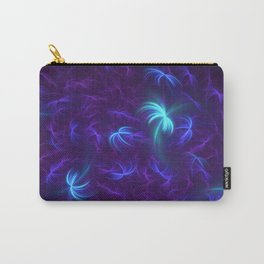Abstract Fractal Design 5 - Soft Purple and Blue Lights Carry-All Pouch