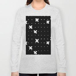 Cosine White on Black Long Sleeve T-shirt