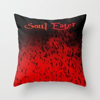 soul eater Throw Pillows featuring Soul Eater by Deb Adkins