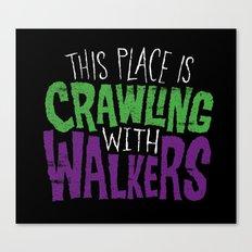 Crawling Walkers Canvas Print