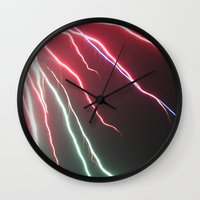 lightning Wall Clocks featuring Lightning by Popko Studio