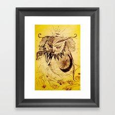 Owl Doodle Framed Art Print