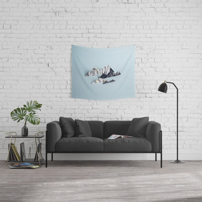 Paper mountains Wall Tapestry