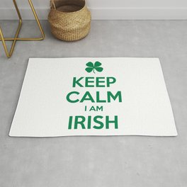 KEEP CALM I AM IRISH Rug