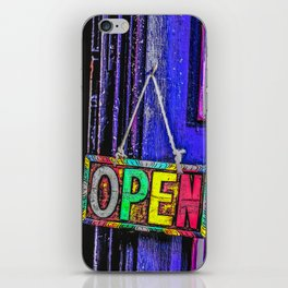 Psychedelic Open Sign iPhone Skin