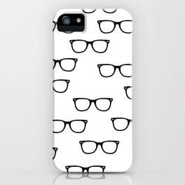 I See // Hipster Glasses Pattern iPhone Case