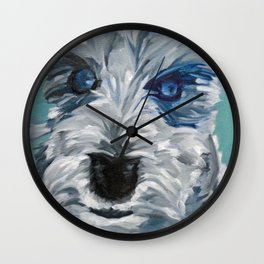Sweet Pea Dog Portrait Wall Clock
