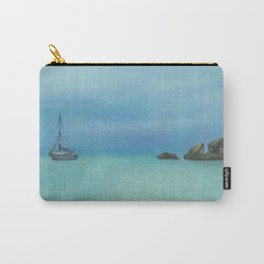 boat in Radical bay, original oil painting Carry-All Pouch