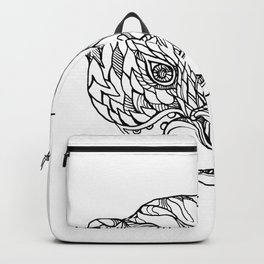 Oriental Small-clawed Otter Doodle Art Backpack