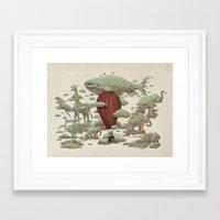 cloud Framed Art Prints featuring Cloud Watching by Terry Fan