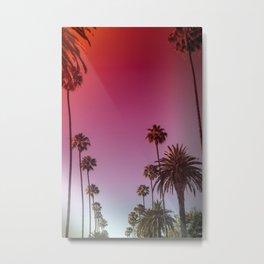 Palm Tree Romance Metal Print
