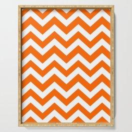 Orange color - Zigzag Chevron Pattern Serving Tray