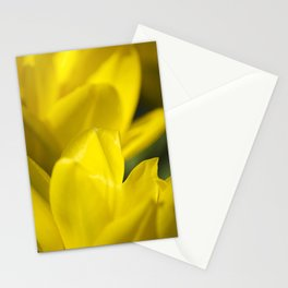 Yellow Flower Abstract Stationery Cards