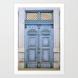 Door Series - Blue Door II Art Print