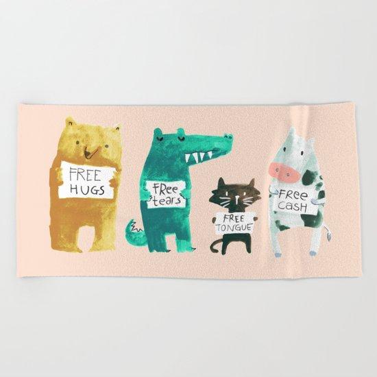 Animal idioms - its a free world Beach Towel