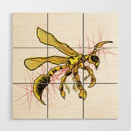 The Wasp Wood Wall Art