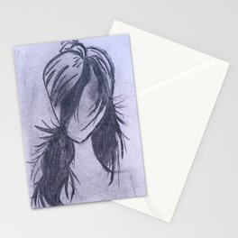 Girl with Scarf Stationery Cards