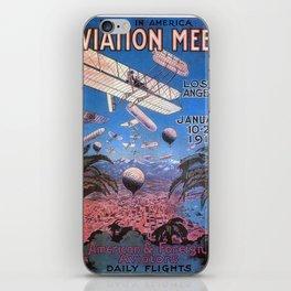 Vintage poster - Aviation Meet iPhone Skin