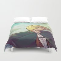 shingeki no kyojin Duvet Covers featuring Armin by For-the-Saba