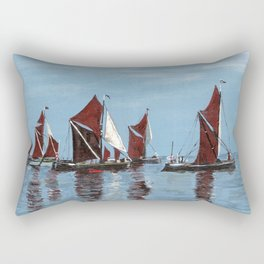 Thames barges Rectangular Pillow