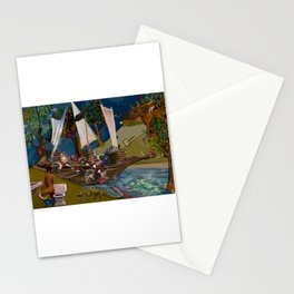 Clipper ship bathroom mural Stationery Cards