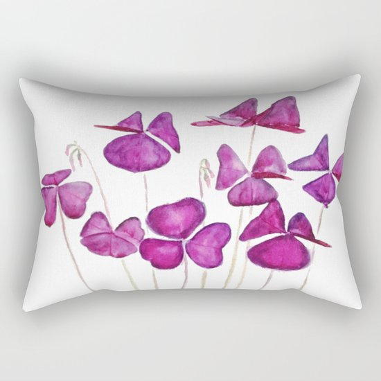 purple clover leaves Rectangular Pillow