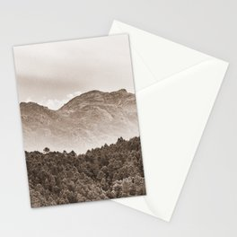 The mountain beyond the forest Stationery Cards