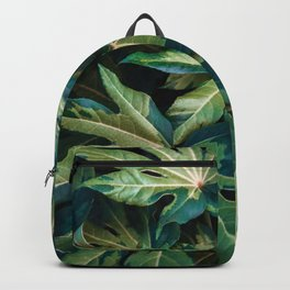 Leaves Photography   Green   Turquoise   Pink   Botanical   Tropical   Art Prints Backpack
