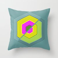 illusion Throw Pillows featuring ILLUSION by d.ts