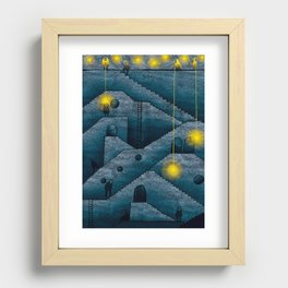 Labyrinth of stairs Recessed Framed Print