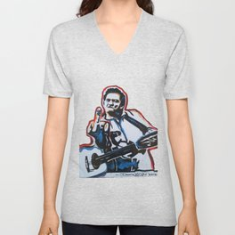 JOHNNY CASH Unisex V-Neck