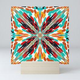 Southwestern Crossroads Dots Abstract Design  Mini Art Print