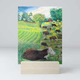 A cow's dream Mini Art Print